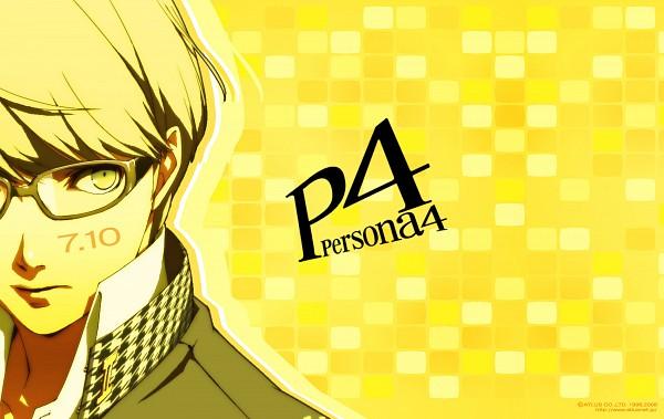 Tags: Anime, Soejima Shigenori, Shin Megami Tensei: PERSONA 4, Narukami Yu, 1900x1200 Wallpaper, Yellow, Official Art, Wallpaper, Official Wallpaper