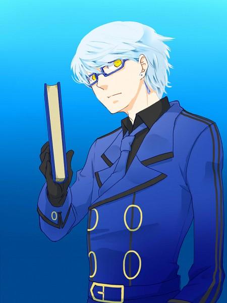 Tags: Anime, Shin Megami Tensei: PERSONA 4, Narukami Yu, Velvet Room, Arete, Theodore (Cosplay), Pixiv