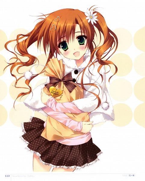 Tags: Anime, Ryohka, Hana x Hana, Kurimi, Narumiya Hana, Checkered Bow, Daisy (Flower), Spotted Skirt, Scan, Official Art
