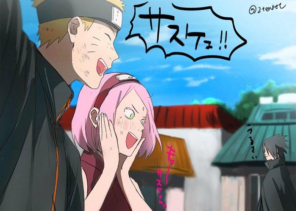 Tags: Anime, Pixiv Id 2455706, Naruto The Movie: The Last, NARUTO, Uzumaki Naruto, Haruno Sakura, Uchiha Sasuke, Village, Pixiv, Fanart, Fanart From Pixiv