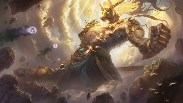 Tags: Anime, Kelly Aleshire, Riot Games, League of Legends, Nasus, Official Art