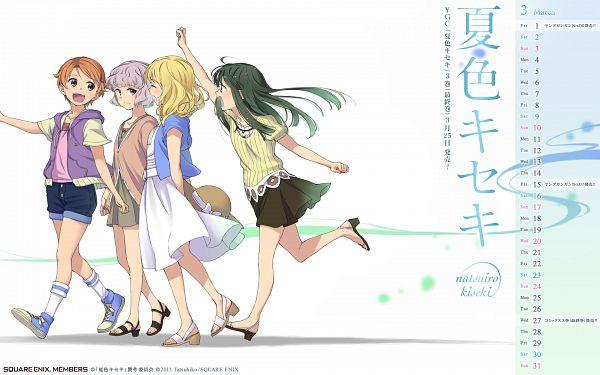 Tags: Anime, Tatsuhiko, Natsuiro Kiseki, Hanaki Yuka, Mizukoshi Saki, Tamaki Rinko, Aizawa Natsumi, Calendar 2013, Official Art, Wallpaper, Calendar (Source)