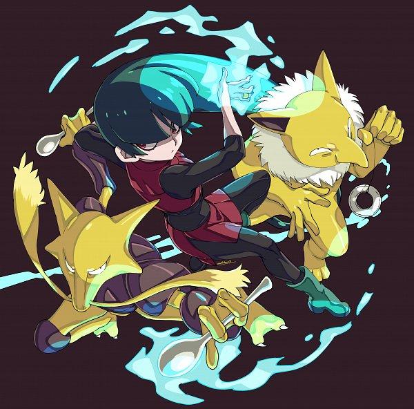Tags: Anime, Eudetenis, Pokémon Red & Green, Pokémon, Natsume (Pokémon), Hypno, Alakazam, Sabrina (pokémon)