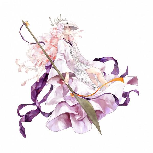 Tags: Anime, Kaihirow, Natsume Yuujinchou, Natsume Takashi, Houzukigami (Cosplay), Deer Mask, Pixiv, Fanart
