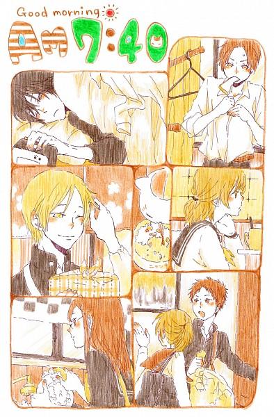 Tags: Anime, Pixiv Id 3392827, Natsume Yuujinchou, Taki Tooru, Nishimura Satoru, Tanuma Kaname, Kitamoto Atsushi, Natsume Takashi, Sasada Jun, Nyanko-sensei, Pixiv, Mobile Wallpaper, Fanart, Natsume's Book Of Friends