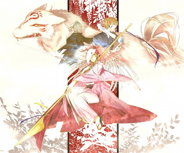 Tags: Anime, Pixiv Id 3673373, Natsume Yuujinchou, Hiiragi (Natsume Yuujinchou), Natori Shuuichi, Madara, Natsume Takashi, Houzukigami (Cosplay), Deer Mask, Fanart, Pixiv, Natsume's Book Of Friends