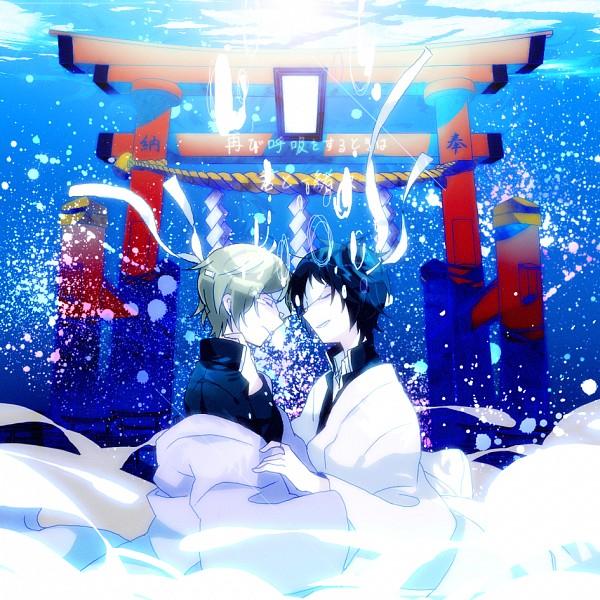 Tags: Anime, Pixiv Id 3390462, Natsume Yuujinchou, Natori Shuuichi, Tanuma Kaname, Natsume Takashi, Gate, Shimenawa, PNG Conversion, Pixiv, Fanart, Natsume's Book Of Friends