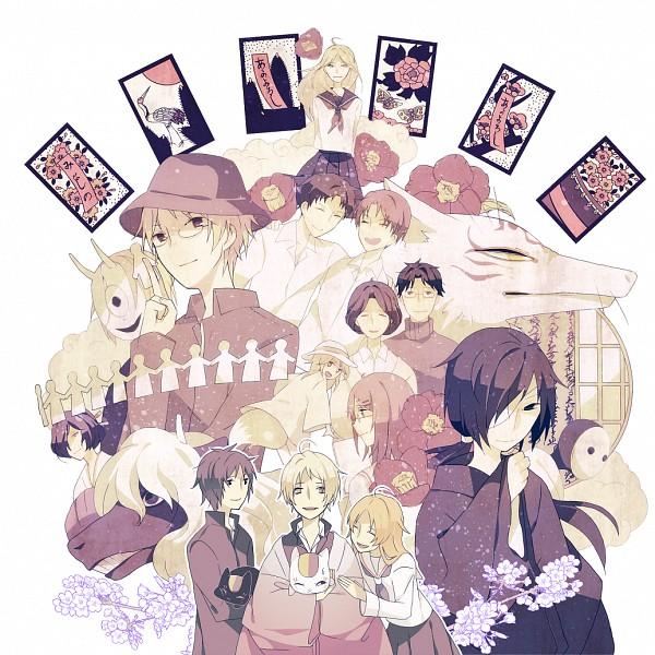 Tags: Anime, Pixiv Id 3390462, Natsume Yuujinchou, Fujiwara Shigeru, Natsume Reiko, Hiiragi (Natsume Yuujinchou), Tanuma Kaname, Fujiwara Touko, Natsume Takashi, Taki Tooru, Kuro Nyanko, Hinoe (Natsume Yuujinchou), Nyanko-sensei, Natsume's Book Of Friends