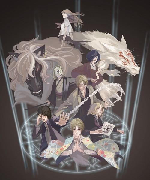 Tags: Anime, Pixiv Id 4554567, Natsume Yuujinchou, Hinoe (Natsume Yuujinchou), Natori Shuuichi, Hiiragi (Natsume Yuujinchou), Tanuma Kaname, Taki Tooru, Madara, Natsume Reiko, Misuzu (Natsume Yuujinchou), Natsume Takashi, Grandmother, Natsume's Book Of Friends