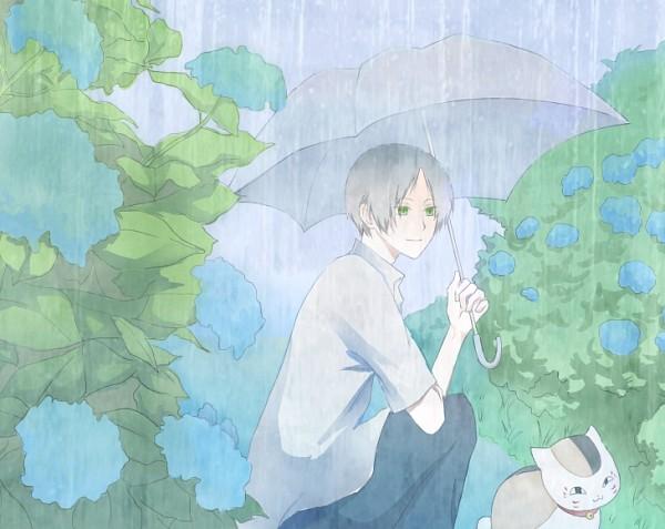 Tags: Anime, Pixiv Id 3036579, Natsume Yuujinchou, Natsume Takashi, Nyanko-sensei, Fanart From Pixiv, Fanart, Pixiv, Natsume's Book Of Friends