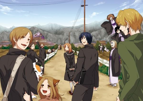 Tags: Anime, Pixiv Id 61532, Natsume Yuujinchou, Fujiwara Touko, Natsume Takashi, Hiiragi (Natsume Yuujinchou), Matoba Seiji, Ushikao No Chuukyuu Youkai, Nyanko-sensei, Taki Tooru, Nanase (Natsume Yuujinchou), Natori Shuuichi, Hitotsume No Chuukyuu Youkai, Natsume's Book Of Friends