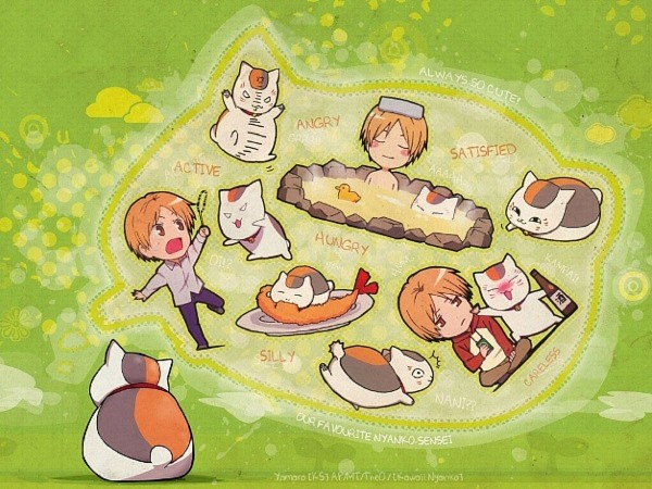 Tags: Anime, Natsume Yuujinchou, Natsume Takashi, Nyanko-sensei, Playing, Scan, Natsume's Book Of Friends