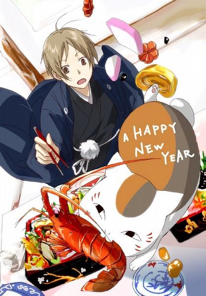 Tags: Anime, Kawauso (Pixiv3192440), Natsume Yuujinchou, Natsume Takashi, Nyanko-sensei, Pixiv, Mobile Wallpaper, Natsume's Book Of Friends