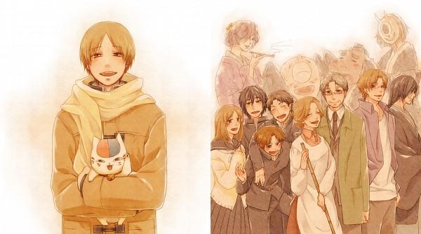 Tags: Anime, Pixiv Id 61532, Natsume Yuujinchou, Nyanko-sensei, Hiiragi (Natsume Yuujinchou), Matoba Seiji, Fujiwara Touko, Taki Tooru, Natori Shuuichi, Hitotsume No Chuukyuu Youkai, Tanuma Kaname, Hinoe (Natsume Yuujinchou), Nishimura Satoru, Natsume's Book Of Friends