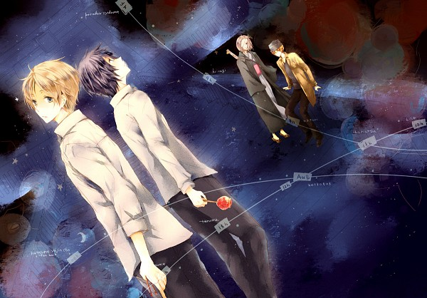Tags: Anime, Pixiv Id 486648, Natsume Yuujinchou, Natori Shuuichi, Tanuma Kaname, Hiiragi (Natsume Yuujinchou), Natsume Takashi, Candy Apple, Fanart From Pixiv, Pixiv, Fanart, Natsume's Book Of Friends