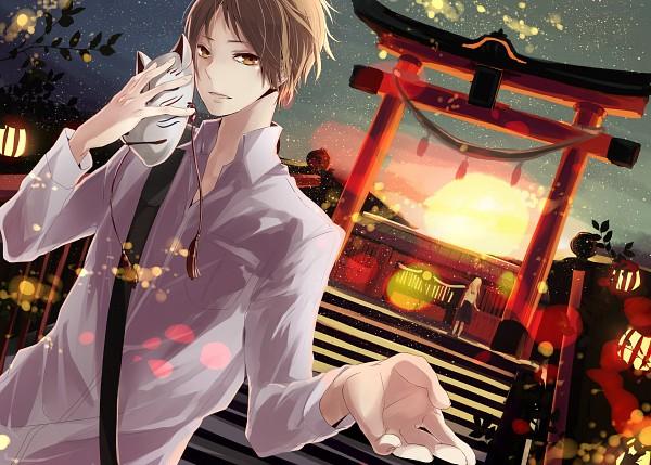 Tags: Anime, Pixiv Id 981706, Natsume Yuujinchou, Natsume Reiko, Natsume Takashi, Shrine, Pixiv, Natsume's Book Of Friends