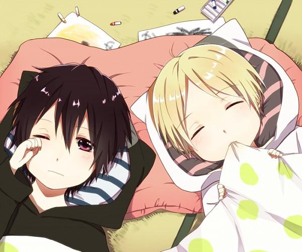 Tags: Anime, Pixiv Id 1419071, Natsume Yuujinchou, Natsume Takashi, Tanuma Kaname, Crayon, Fanart, Pixiv, Fanart From Pixiv, Natsume's Book Of Friends