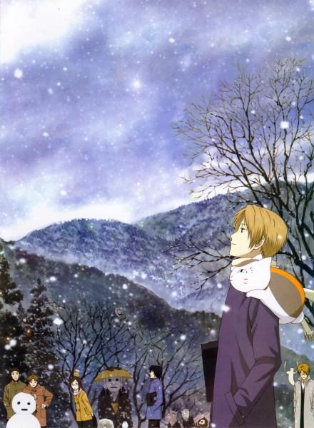 Tags: Anime, Natsume Yuujinchou, Natsume Takashi, Nishimura Satoru, Nyanko-sensei, Natori Shuuichi, Tanuma Kaname, Kitamoto Atsushi, Sasada Jun, Official Art, Natsume's Book Of Friends