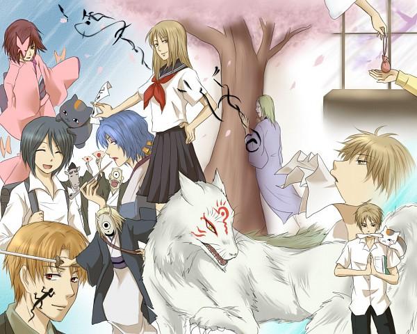 Tags: Anime, Pixiv Id 110715, Natsume Yuujinchou, Benio (Natsume Yuujinchou), Madara, Hinoe (Natsume Yuujinchou), Natsume Reiko, Ishio Kai, Hiiragi (Natsume Yuujinchou), Natsume Takashi, Ushikao No Chuukyuu Youkai, Natori Shuuichi, Nyanko-sensei, Natsume's Book Of Friends