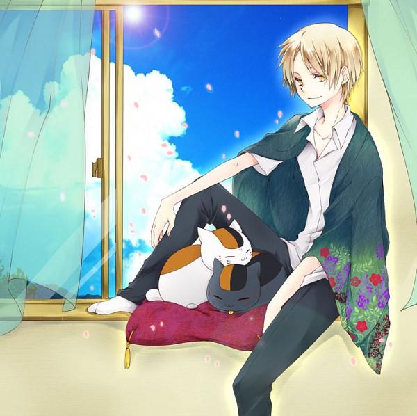 Tags: Anime, Zeke69, Natsume Yuujinchou, Kuro Nyanko, Natsume Takashi, Nyanko-sensei, Pixiv, Natsume's Book Of Friends
