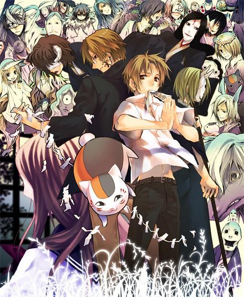 Tags: Anime, Pixiv Id 1656641, Natsume Yuujinchou, Tama (Natsume Yuujinchou), Nyanko-sensei, Ushikao No Chuukyuu Youkai, Hitotsume No Chuukyuu Youkai, Natori Shuuichi, Benio (Natsume Yuujinchou), Kuro Nyanko, Misuzu (Natsume Yuujinchou), Hiiragi (Natsume Yuujinchou), Natsume Takashi, Natsume's Book Of Friends