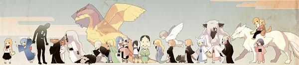 Tags: Anime, Pixiv Id 21767, Natsume Yuujinchou, Natsume Reiko, Hishigaki, Hiiragi (Natsume Yuujinchou), Natsume Takashi, Ishio Kai, Tama (Natsume Yuujinchou), Nyanko-sensei, Ushikao No Chuukyuu Youkai, Madara, Hitotsume No Chuukyuu Youkai, Natsume's Book Of Friends