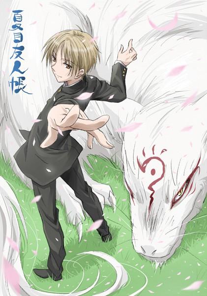 Tags: Anime, Matumoto Mouse, Natsume Yuujinchou, Madara, Natsume Takashi, Nyanko-sensei, Fanart, Mobile Wallpaper, Pixiv, Natsume's Book Of Friends