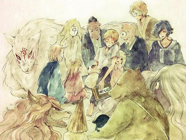 Tags: Anime, Moha, Natsume Yuujinchou, Nyanko-sensei, Tsubame (Natsume Yuujinchou), Tama (Natsume Yuujinchou), Ushikao No Chuukyuu Youkai, Madara, Hitotsume No Chuukyuu Youkai, Kogitsune, Misuzu (Natsume Yuujinchou), Hinoe (Natsume Yuujinchou), Natsume Takashi, Natsume's Book Of Friends