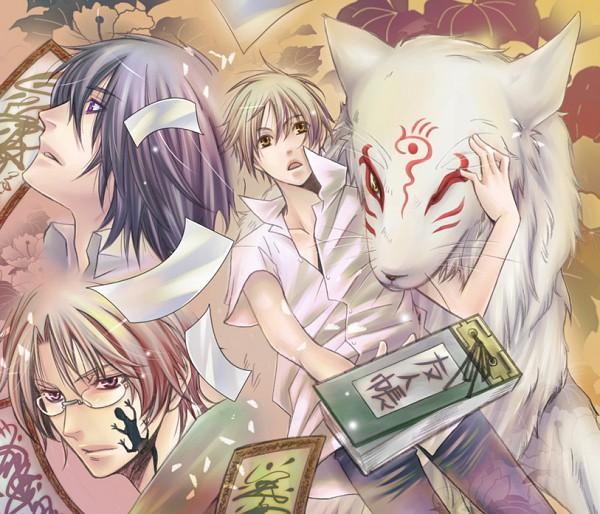 Tags: Anime, Shina Akino, Natsume Yuujinchou, Natsume Takashi, Nyanko-sensei, Natori Shuuichi, Tanuma Kaname, Madara, Lizard, Fanart, Pixiv, Natsume's Book Of Friends