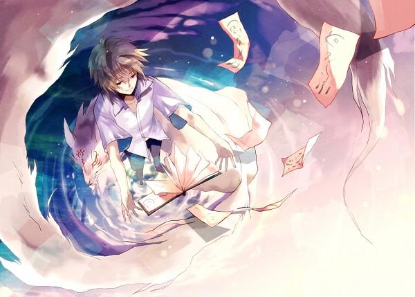Tags: Anime, Wehip, Natsume Yuujinchou, Nyanko-sensei, Madara, Natsume Takashi, Pixiv, Fanart, Natsume's Book Of Friends