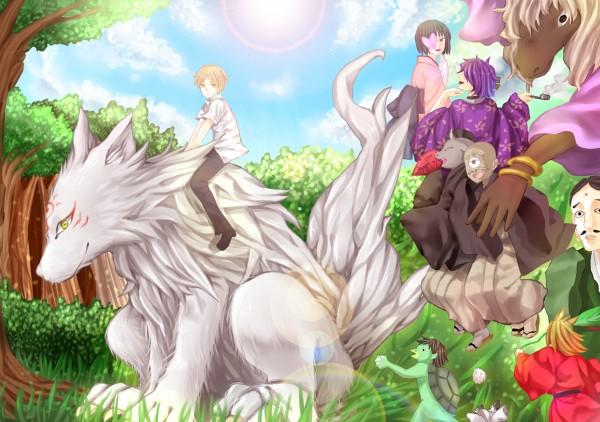 Tags: Anime, Pixiv Id 635048, Natsume Yuujinchou, Madara, Natsume Takashi, Nyanko-sensei, Pixiv, Fanart, Natsume's Book Of Friends