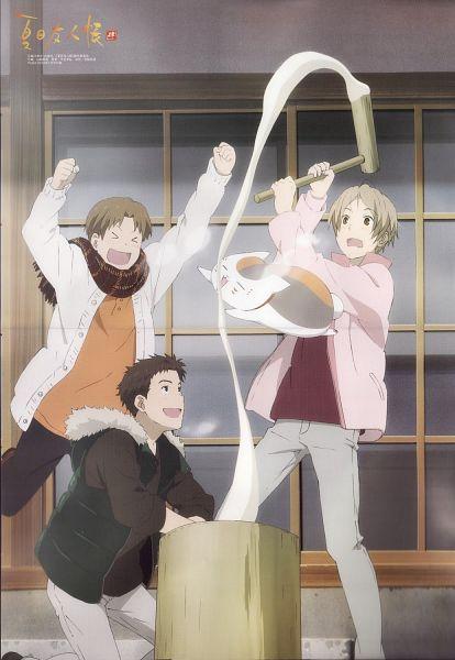 Tags: Anime, Yamazaki Eri, Natsume Yuujinchou, Nishimura Satoru, Natsume Takashi, Nyanko-sensei, Kitamoto Atsushi, Scan, Official Art, Mobile Wallpaper, Natsume's Book Of Friends