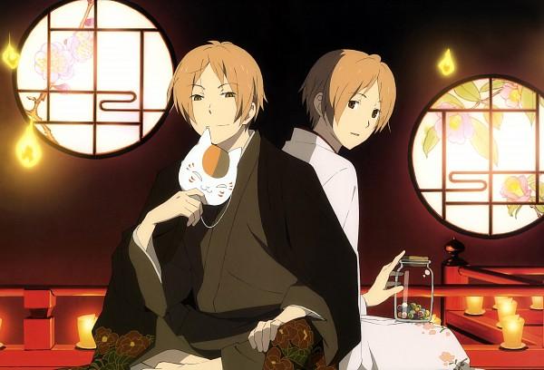 Tags: Anime, Natsume Yuujinchou, Nyanko-sensei, Natsume Takashi, Round Window, Nyatsume, Artist Request, Natsume's Book Of Friends