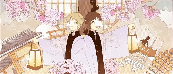 Tags: Anime, Pixiv Id 3390462, Natsume Yuujinchou, Natsume Takashi, Tanuma Kaname, Pixiv, Facebook Cover, Fanart, Natsume's Book Of Friends