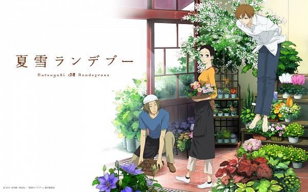 Tags: Anime, Natsuyuki Rendezvous, Shimao Rokka, Shimao Atsushi, Hazuki Ryousuke, Official Wallpaper, Wallpaper, Official Art