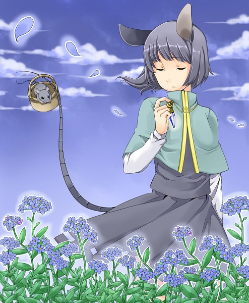 Tags: Anime, Touhou, Nazrin, Fanart, Pixiv