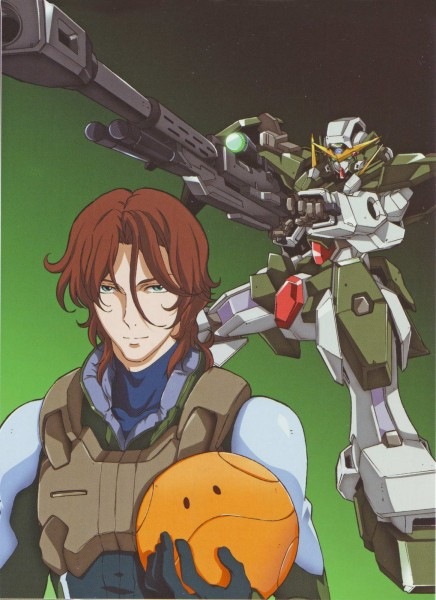 Tags: Anime, Mobile Suit Gundam 00, Haro, Lockon Stratos, Neil Dylandy, Space Suit, Artist Request, Official Art, Scan