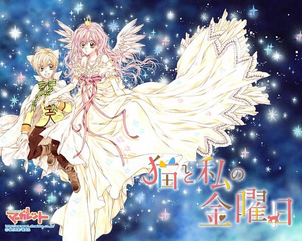 Tags: Anime, Tanemura Arina, Neko to Watashi no Kinyoubi, Wallpaper, Official Wallpaper, Manga Cover, Scan, Artbook Cover, Official Art