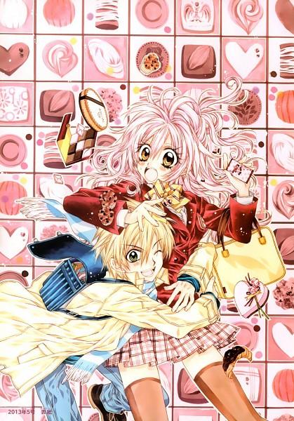 Tags: Anime, Tanemura Arina, Neko to Watashi no Kinyoubi, Honjou Nekota, Tachibana Ai (NtWnK), Croissant, Mobile Wallpaper, Official Art, Scan