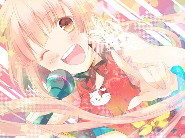 Tags: Anime, Kether Malchut, Sanrio, Hello Kitty Series, VOCALOID, Hello Kitty, Nekomura Iroha, Hello Kitty (Parody), Fanart, Pixiv