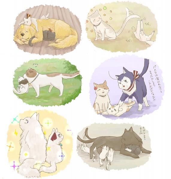 Tags: Anime, Pixiv Id 1550083, Axis Powers: Hetalia, South Italy Cat, Prusscat, South Korea, Hungarycat, Italycat, Spaincat, Germancat, Hong Kong, Japancat, Chinacat