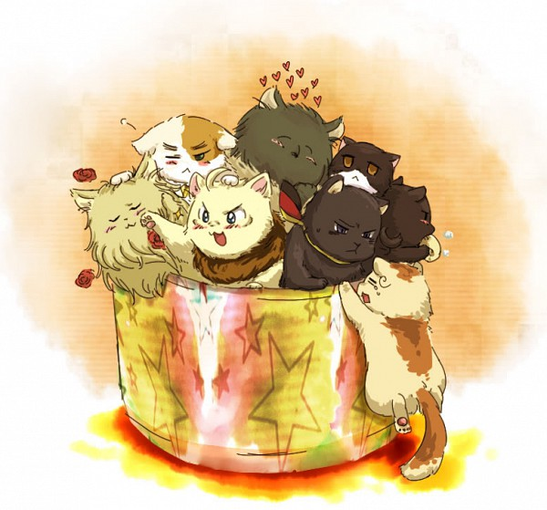 Tags: Anime, Pixiv Id 64617, Axis Powers: Hetalia, Francecat, Iggycat, Italycat, Germancat, Americat, Chinacat, Japancat, North Italy, Russiacat, Nekotalia
