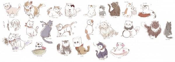 Tags: Anime, Himaruya Hidekaz, Axis Powers: Hetalia, Germancat, Spaincat, Americat, Japancat, Swedencat, Chinacat, Denmark Cat, Monacocat, Francecat, South Italy Cat