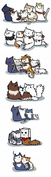 Tags: Anime, Axis Powers: Hetalia, Turkeycat, Taiwancat, Italycat, Hungarycat, Ukrainecat, Norwaycat, Germancat, Denmark Cat, Gilbird, Americat, Japancat