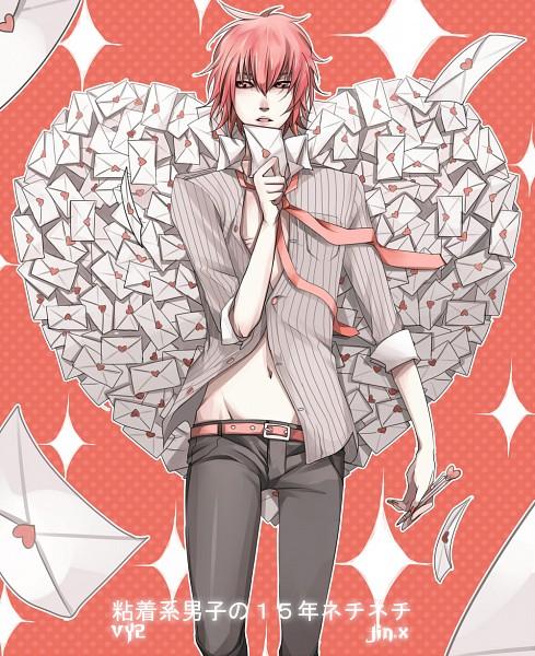 Tags: Anime, jin.x, VY2, Love Letter, Pixiv, Nenchakukei Danshi no 15-nen Nechinechi