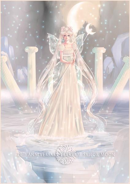 Tags: Anime, Masakohime, Bishoujo Senshi Sailor Moon, Neo-Queen Serenity, Tsukino Usagi, Silver Millenium, Serenity Crystal Tiara, Silver Crystal, Moon Stick, Fanart From DeviantART, Fanart, deviantART, Mobile Wallpaper