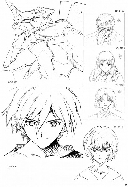 Tags: Anime, Neon Genesis Evangelion, Nagisa Kaworu, Eva 01, Katsuragi Misato, Ikari Gendou, Ayanami Rei, Akagi Ritsuko, Mobile Wallpaper, Scan, Official Art