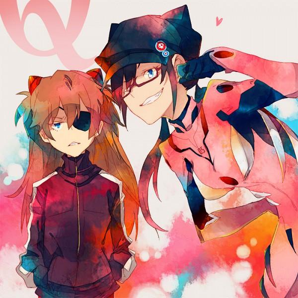 Tags: Anime, Pixiv Id 535163, Neon Genesis Evangelion, Makinami Mari Illustrious, Souryuu Asuka Langley, Cat Hat, Under Rim Glasses, Pixiv, Fanart From Pixiv, Fanart