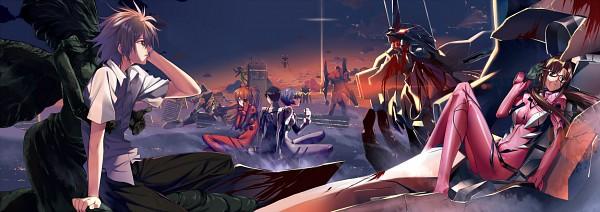 Tags: Anime, Hullabaloo, Neon Genesis Evangelion, Eva 05, Makinami Mari Illustrious, Eva 02, Nagisa Kaworu, Eva 06, Eva 00, Ikari Shinji, Eva 03, Souryuu Asuka Langley, Ayanami Rei