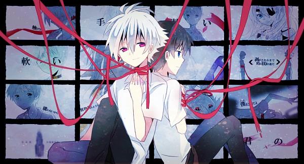 Tags: Anime, Nishinomiya Saku, Neon Genesis Evangelion, Souryuu Asuka Langley, Nagisa Kaworu, Ikari Shinji, Facebook Cover, Sarishinohara